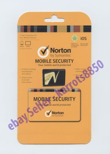 Norton Mobile Security 1 yr anti virus for 10   Android & Apple Mobile devices