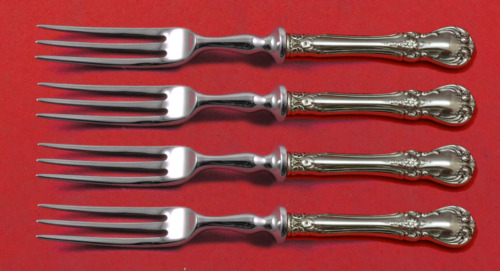 """Old Master by Towle Sterling Silver Fruit Fork Set 4-Piece Custom Made 6"""" HH WS"""