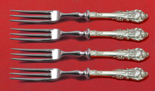 """Sir Christopher by Wallace Sterling Silver Fruit Fork Set 4pc Custom 6"""" HH WS"""