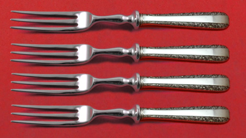 """Candlelight by Towle Sterling Silver Fruit Fork Set 4-Piece Custom Made 6"""" HHWS"""
