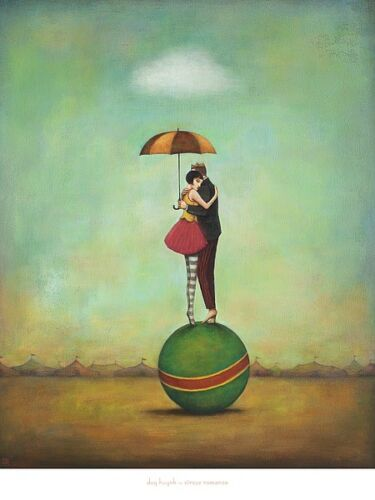 Circus Romance by Duy Huynh Fantasy, Print 24x30