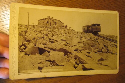 sba12 Stereoview Cabinet Card photo Railroad Pikes Peak W. Hook Photograph 1890s