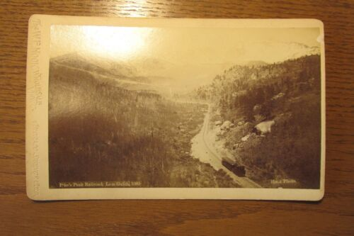 sba14 Stereoview Cabinet Card photo Railroad Pikes Peak W. Hook Photograph 1890s