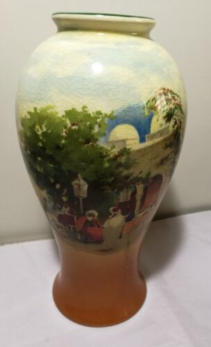 Vintage UK Empire Ware 1930s porcelain hand painted Vase H26cm