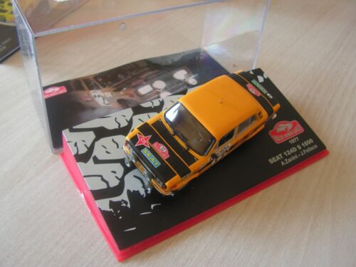 1/43  voiture  seat 124 d   rally monte carlo 1977    serie 11