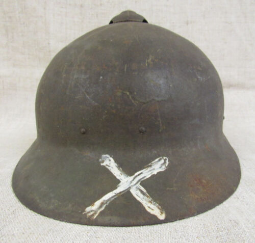 Imperial Russian Army WWI Sohlberg M17 Helmet With the Tactiсal Sign.Russia - 13968