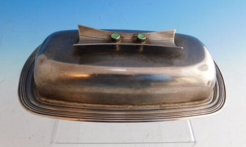 Jade Plain by Towle / Contempra House Sterling / SP Butter Dish Covered (#2226)