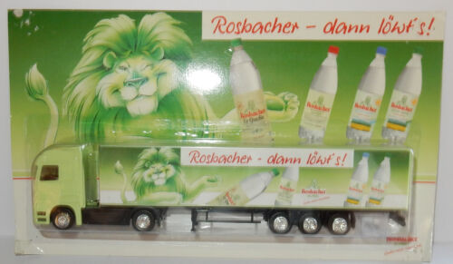 HÜMMER GRELL HO 1/87 CAMION SEMI TRUCK TRAILER MB ACTROS EAU MINERALE ROSBACHER