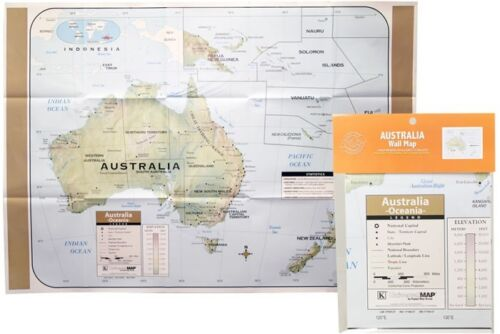 NEW LARGE MAP OF AUSTRALIA EDUCATIONAL POSTER (101x71cm)  WALL CHART MADE IN USA