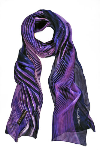 Sciarpa Donna in Pura Seta - GALAXY SCARF  - BORDERLINE - 100% Made in Italy -