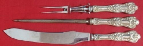 """Queens by Birks Sterling Silver Roast Carving Set 3-piece 13 3/4"""""""