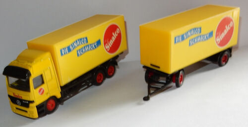 HIGH SPEED HO 1/87 CAMION + REMORQUE TRUCK MB ACTROS DIE SCHMECKT SINALCO