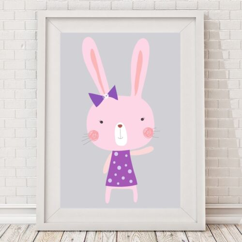 NEW Purple Milly Bunny Print Girl's by BespokeMoments