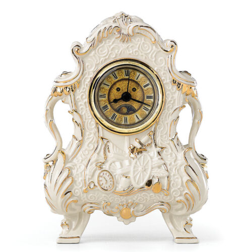 Lenox Disney Cogsworth Clock Figurine Beauty and The Beast Working Time Face NEW