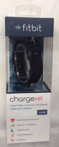 NEW!!! Fitbit Charge HR Wireless Activity Wristband - Large - Black