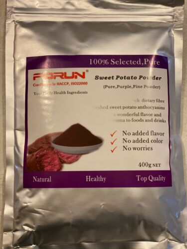 FORUN Natural Purple Sweet Potato Powder  400G - HACCP,ISO22000 Certified