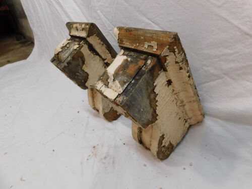 Two Victorian Style Wood Corbels - C 1895 Fir Architectural Salvage