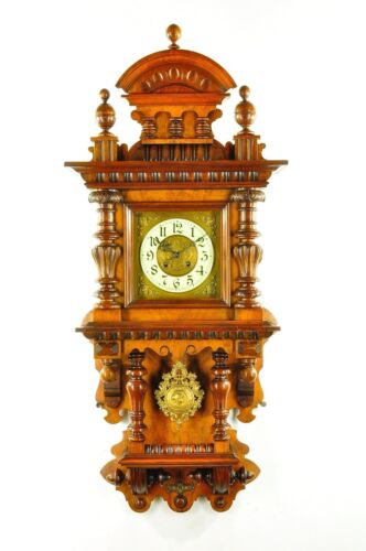 Gorgeous Antique German Kienzle Balcony Free Swinger Wall Clock approx.1900