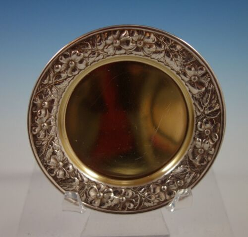 """Cluny by Gorham Sterling Silver Butter Pat Gold Washed #2395 1/8"""" x 3"""" (#2306)"""