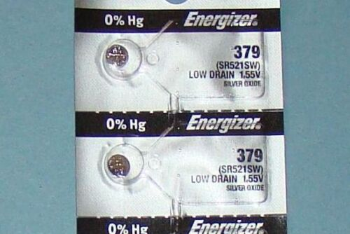 TIMEX JA Watch Batteries /2 Pieces 379 /SR521SW Energizer ..Free Shipping