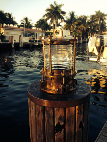 Nautical Bronze Piling post Nautical Dock Light - marine ship lights
