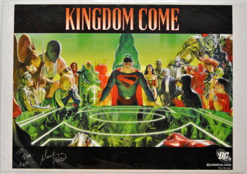 KINGDOM COME PROMOTIONAL Print Alex Ross Justice Society HAND SIGNED Mark Wade