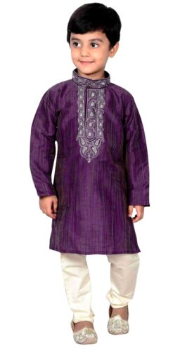Boys Indian Bollywood Party Wear EID Clothes Kurta Pyajama Kids Sherwani 884