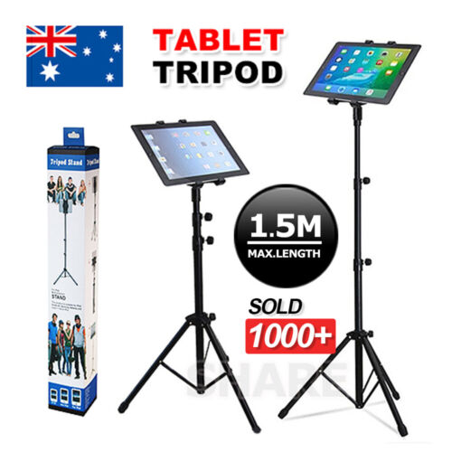 Floor iPad and Tablet Tripod Stand Carrying for iPad 7-12 inch Tablets AU