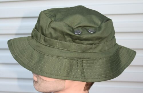 AUSTRALIAN ARMY GIGGLE BUSH HAT OLIVE GREEN  ADULTS - SIZES S to XL REPRODUCTION1961 - 1975 (Vietnam) - 36060