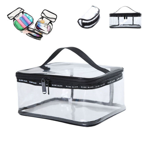 Clear PVC Travel Zipper Wash Bag Holder Pouch Bag Cosmetic Makeup Toiletry