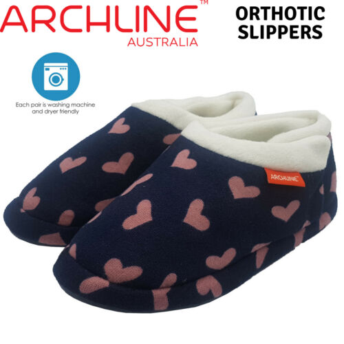 ARCHLINE Orthotic Slippers CLOSED Arch Scuffs Medical Moccasins Pain Relief
