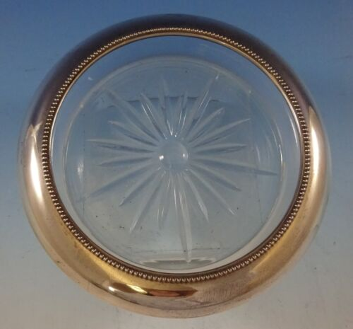 Bead Edge by Frank Whiting Sterling Silver Champagne Coaster with Glass (#2492)