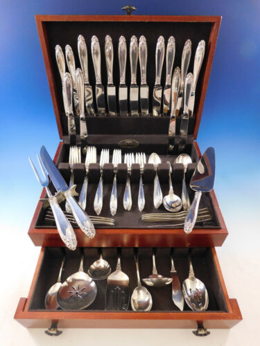 Prelude by International Sterling Silver Flatware Set for 8 Service 76 pc Dinner