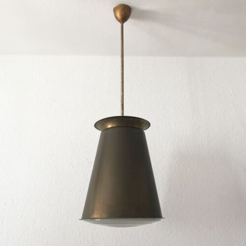 EXTREMELY RARE Modernist BAUHAUS Pendant Lamp by ADOLF MEYER, ZEISS IKON 1930s