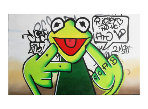 Frog Painting Poster FREE POSTAGE Print Wall Art Home Office  Decor Glass Frames