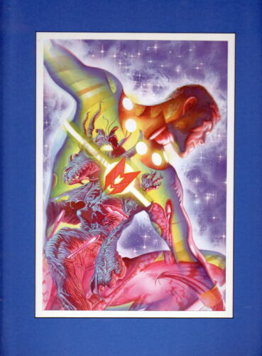MIRACLE MAN COLLAGE PRINT PROFESSIONALLY MATTED Alex Ross