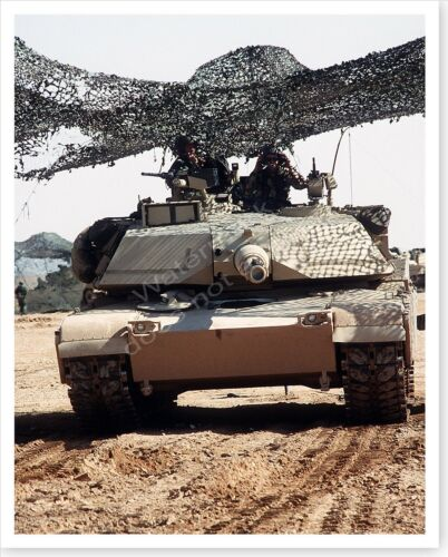 Camouflaged M-1A1 Abrams Main Battle Tank Operation Desert Storm 8x10 PhotoReproductions - 156449
