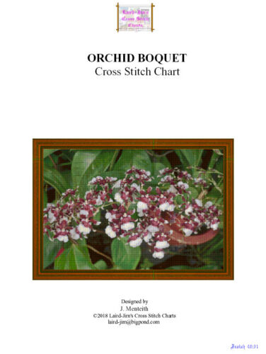 ORCHID BOQUET - cross stitch chart - PDF file