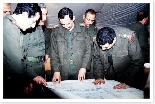 Defeated Iraqi Officers Share Intelligence Information Desert Storm 8 x 12 Photo