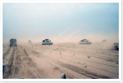 1st Armored Division M-1A1 Abrams Tanks Northern Kuwait Desert Storm 8x12 PhotoReproductions - 156449