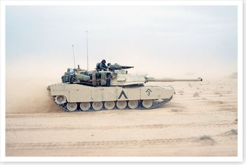 1st Armored Division M-1A1 Abrams Tank Northern Kuwait Desert Storm 8x12 PhotoReproductions - 156449