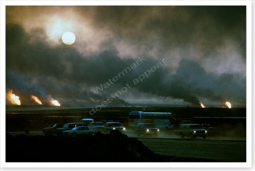 Burning Oil Wells Operation Desert Storm Aftermath 8x12 PhotoReproductions - 156449