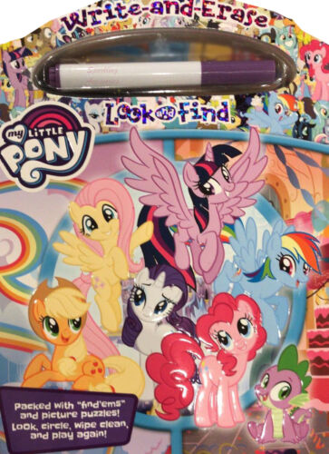 NEW My Little Pony Write & Erase Look & Find Puzzles Activity Kit + Marker Set!