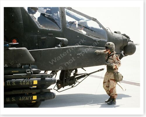 101st Airborne Air Assault AH-64A Apache Helicopter Desert Shield 8 x 10 PhotoReproductions - 156449