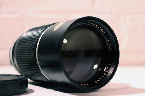 Panagor Auto Tele 200mm Lens - UV Filter + Front & back Caps ~ Near Mint!