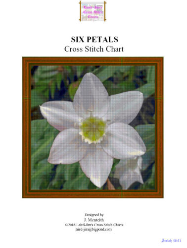 SIX PETALS  - cross stitch chart - PDF file