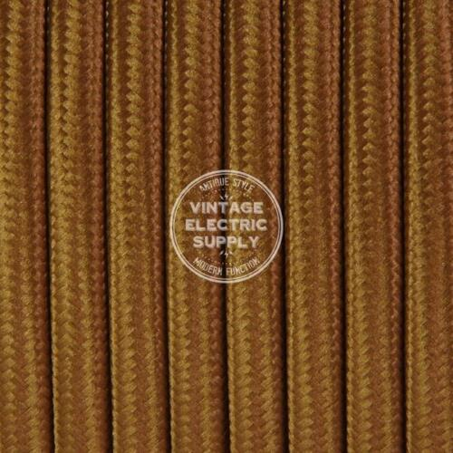 Cognac Parallel (Flat) Cloth Covered Wire - Antique Lamp Cord - UL Listed
