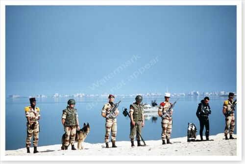French Soldiers On Kuwait City Beach Operation Desert Storm 8 x 12 PhotoReproductions - 156449