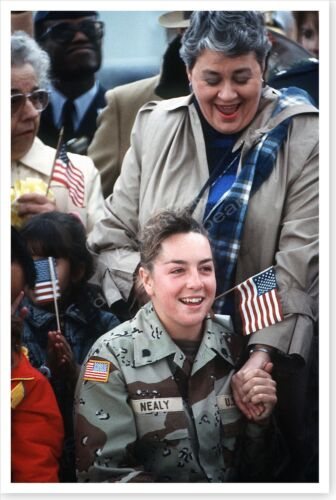 Female U.S. Prisoner Of War With Mother At Andrews AFB Desert Storm 8 x 12 PhotoReproductions - 156449