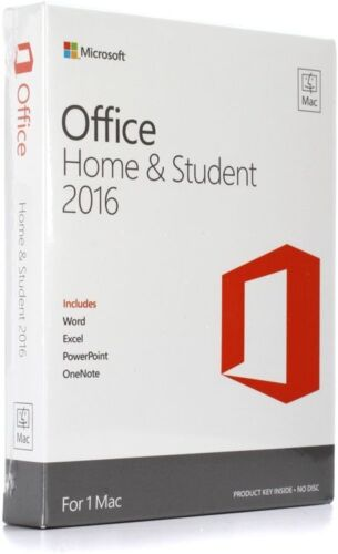 Microsoft Office Mac Home Student 2016 * Original with box *
